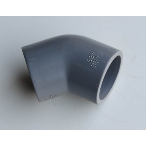 ABS 45 deg elbow plain/plain