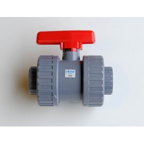 ABS double union ball valve plain end