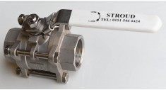 Stainless steel '3' piece ball valve screwed bsp fig 903