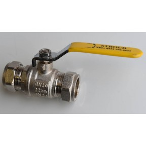 N.P. Brass 'GAS' ball valve compression ends EN331fig 89