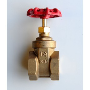 Brass gate valve screwed bsp PN20
