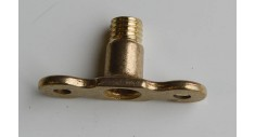 Brass backplate M10 metric male