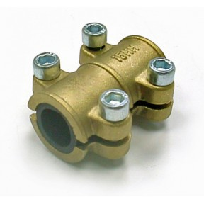Brass repair clamp for copper tube