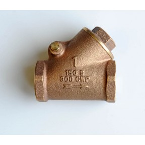 Bronze swing check valve screwed bsp fig 384