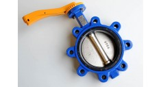 Ductile iron lugged pattern 'GAS' butterfly valve fig 145