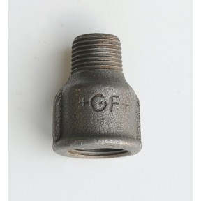 Black malleable concentric reducing socket m/f