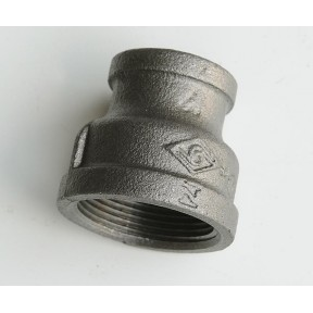 Black malleable concentric reducing socket f/f