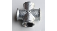 Galvanised malleable equal cross