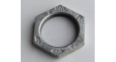 Galvanised malleable backnut