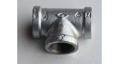 Galvanised malleable equal tee