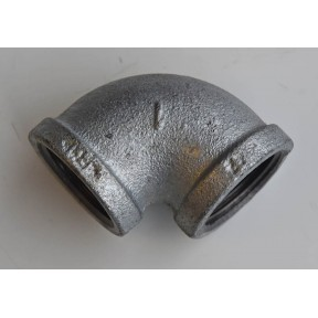 Galvanised malleable 90 deg elbow f/f