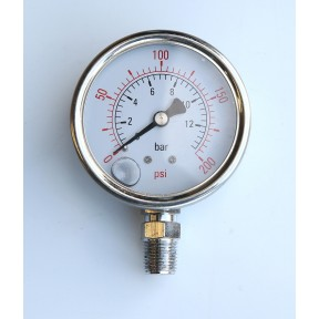 63mm Dial Glycerine filled pressure gauge