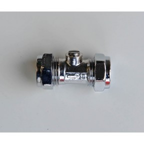 Isolating valve chrome plated compression FIG 105