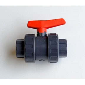 PVC ball valve double union plain ends