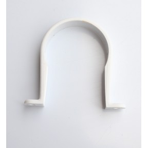 White Solvent weld waste pipe clip