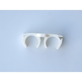 Plastic white double trunking clip