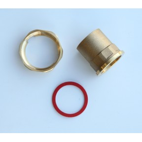 "1""Brass pump union extended"