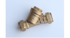 Brass inline 'Y' Strainer compression