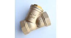 Brass inline 'Y' strainer bsp female