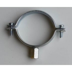 Unlined mild steel plated pipe clip