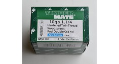 "Box (200) 1.1/4"" x 10g Pozi-drive plated woodscrew"