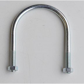 Zinc plated 'U' bolt c/w nuts