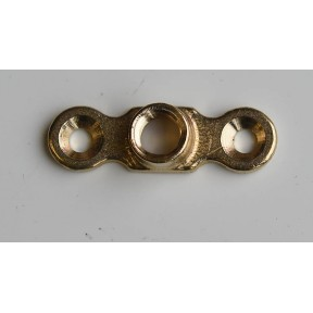 Brass backplate metric M10 female