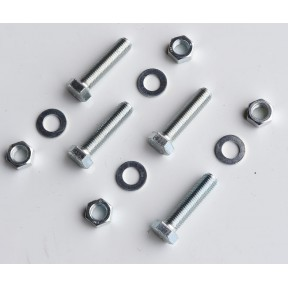 SES Bolt kit No:1 (4 x M10x45 long plated set bolt, nut & washer)