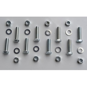 SES Bolt kit No:8 (8 x M20x75 plated set bolt, nut & washer)