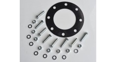 "4"" SES valve bolt pack No.07 c/w 8 x M16x65 bzp set screw, nut,washer & 4""PN16 full faced rubber gasket"