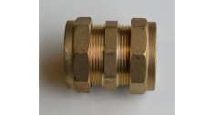 Brass compression straight coupling 301