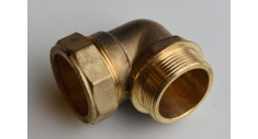 Brass compression 90 deg x bsp male adaptor 402