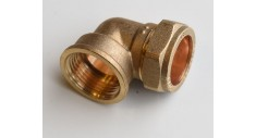 Brass compression 90 deg x female bsp adaptor 403