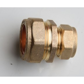 Brass compression straight reducing coupling 301R