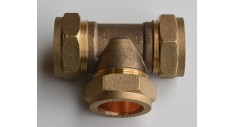 Brass compression equal tee 601