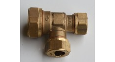 Brass compression reducing tee (reducing on run and branch) 601R