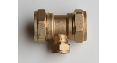 Brass compression reducing tee (reducing on the branch) 601R