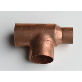 Copper end feed reducing tee (reduced on run only) 611RR