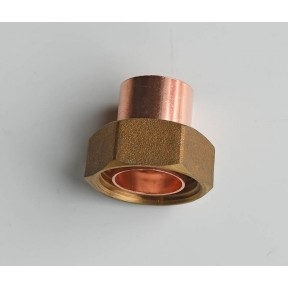 Copper end feed straight cylinder connector 633UA