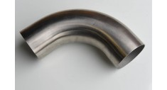 Stainless steel hygienic plain end 90 deg bend 316