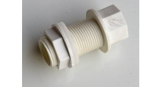 White overflow tank connector