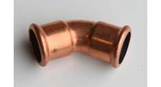 Copper press-fit 45 deg elbow