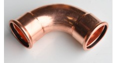 Copper press-fit 90 deg elbow
