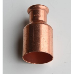 Copper press-fit fitting reducer