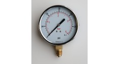 "100mm Steel case pressure gauge, chrome bezel, 3/8""bsp bottom entry"