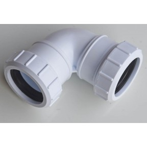 White compression 90 deg knuckle elbow